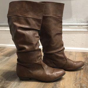 Light brown tall boots